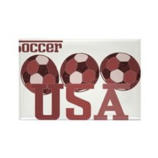 Soccer USA Rectangle Magnet