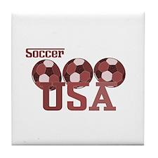 Soccer USA Tile Coaster