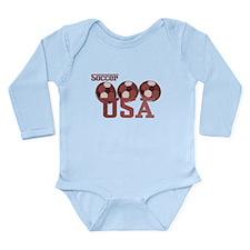 Soccer USA Long Sleeve Infant Bodysuit