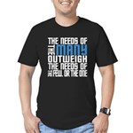 Needs of the Many Men's Fitted T-Shirt (dark)