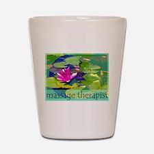 Massage Therapist / Waterlily Shot Glass