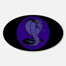 Purple Cobras Oval Decal