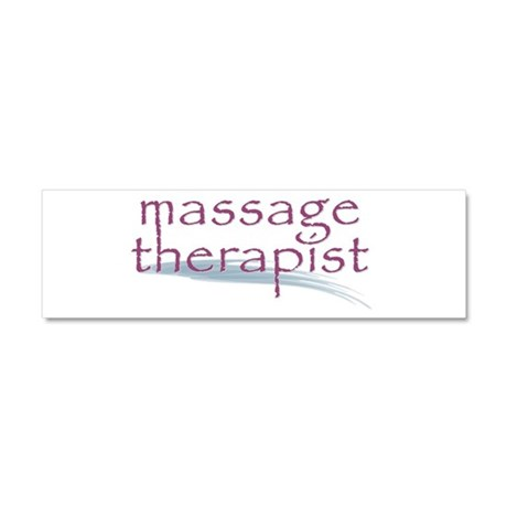 Massage Therapist Car Magnet 10 x 3