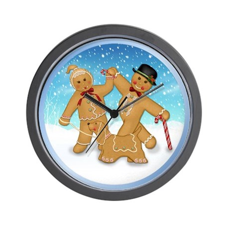 Gingerbread Trio Wall Clock