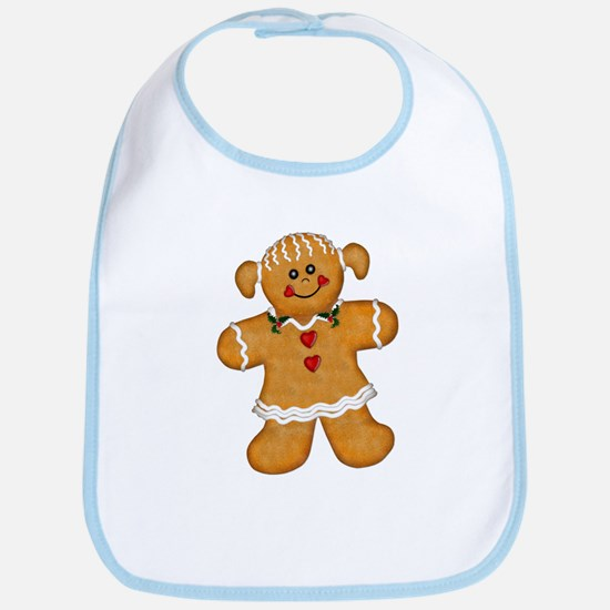 Gingerbread Woman Bib