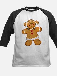 Gingerbread Woman Kids Baseball Jersey