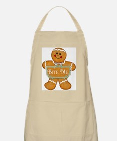 Gingerbread Man - Bite Me BBQ Apron