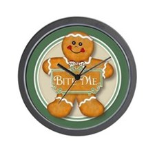 Gingerbread Man - Bite Me Wall Clock