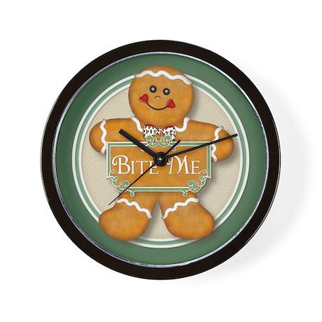 Gingerbread Man - Bite Me Wall Clock