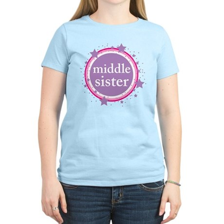 pink & purple middle sister Women's Light T-Shirt