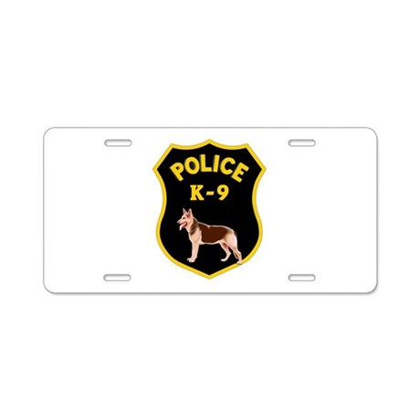 K9 Police Officers Aluminum License Plate by bonfiredesigns