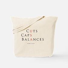 Cut Cap Balance Tote Bag