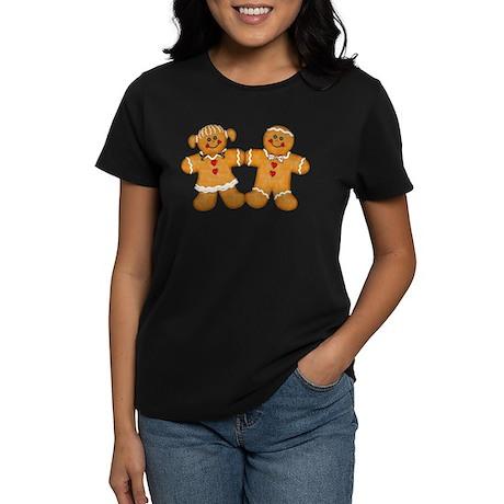 Gingerbread Man & Woman Women's Dark T-Shirt