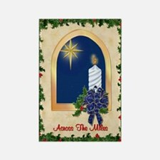 Christmas Across the Miles Rectangle Magnet