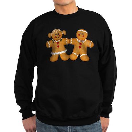 Gingerbread Man & Woman Sweatshirt (dark)