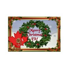 Canadian Christmas Rectangle Magnet