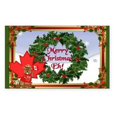 Canadian Christmas Decal