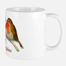 English Robins & Holly Mug