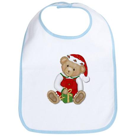 Christmas Teddy Bear - Boy Bib