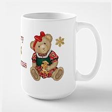 Christmas Teddy Bear - Girl Large Mug
