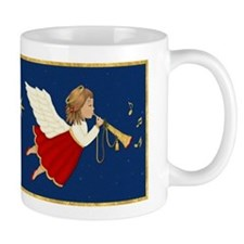 Christmas Angel & Trumpet Mug