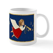 Christmas Angel & Trumpet Small Mug