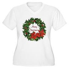 Christmas Holly Wreath T-Shirt