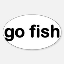 go fish Oval Decal