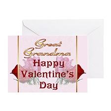 Valentine Roses for Great Grandma Greeting Card