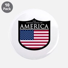 """USA Patch 3.5"""" Button (10 pack)"""