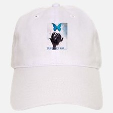 JUST LET GO BUTTERFLY Baseball Baseball Cap