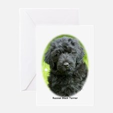 Russian Black Terrier 9T091D-030 Greeting Card
