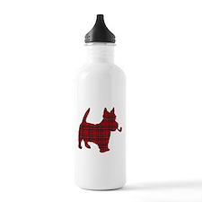 Scottish Terrier Tartan Water Bottle