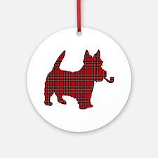 Scottish Terrier Tartan Ornament (Round)