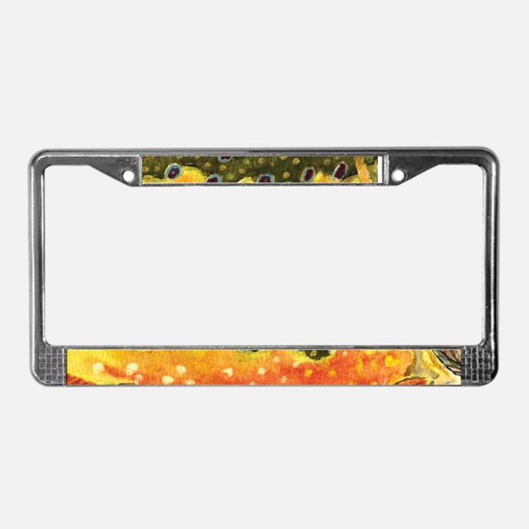 Love fishing personalized license plate frames covers and for Fishing license plate