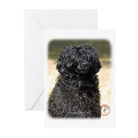 Portuguese Water Dog 9R016D-151 Greeting Cards (Pk