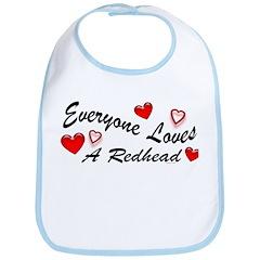 Everyone Loves A Redhead Bib