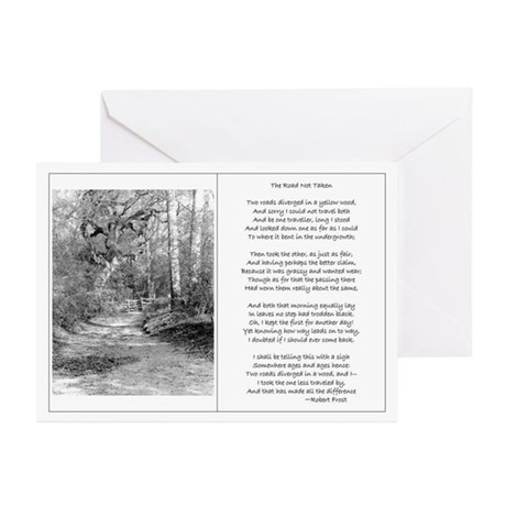 The Road Not Taken Greeting Cards (Pk of 10)