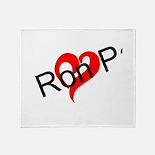 (heart) Ron Paul Throw Blanket
