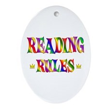 Reading Rules Ornament (Oval)