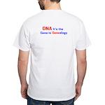 ISOGG DNA Gene in Genealogy back White T-Shirt