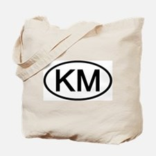 KM - Initial Oval Tote Bag