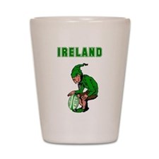Irish Rugby Shot Glass