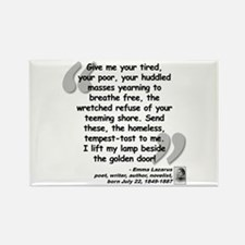 Lazarus Liberty Quote Rectangle Magnet