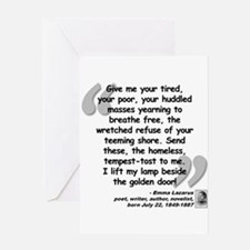 Lazarus Liberty Quote Greeting Card