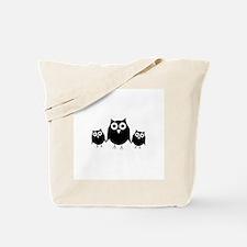 Black owls Tote Bag