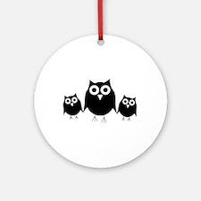 Black owls Ornament (Round)