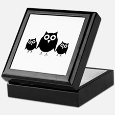 Black owls Keepsake Box