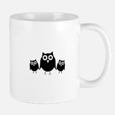 Black owls Mug