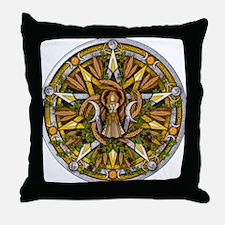 Lammas/Lughnasadh Pentacle Throw Pillow